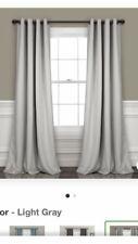 "Lush Decor Insulated Grommet Blackout Window Curtain Panel Pair, 84"""