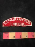 Vtg Circa 1960s or 1970s KIKTHAWNUND AREA COUNCIL BSA Boy Scouts Patch 89X7