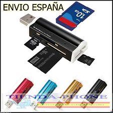 Lector de tarjetas microSD Adaptador micro SD a USB - Envío desde España -MULTI