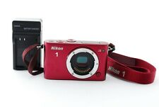 NIKON 1 J3 Digital Camera 14.2MP Red Body ONLY w/Charger,Battery,Strap #093