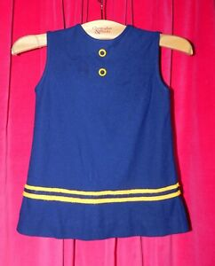 Vintage Girl's Navy Blue Dress Charles of Miami 1960's #SP