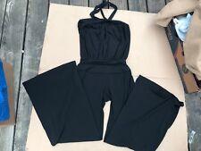 Express Romper pants Size XS  women's Black SUPER STRETCH halter neck
