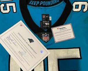 DERRICK BROWN Game Worn Used NFL Carolina Panthers ROOKIE Jersey PHOTO MATCHED