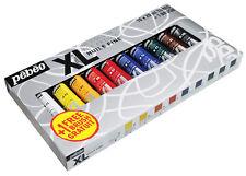 Pebeo Studio XL Oil Paint Starter Set 10 x 20ml Colour Tubes Plus 1 Free Brush