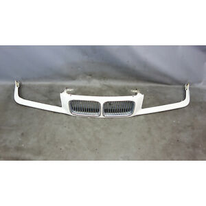 1992-1996 BMW E36 3-Series Early Front Nose Kidney Grille Panel Alpine White OEM
