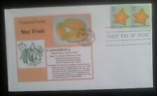 First day of issue, 2008 Tropical Fruits Series, Star Fruit, tied oair # 4254