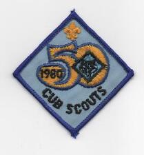 50th Anniv. of Cub Scouts Patch (1980), Square-Diamond, Mint!
