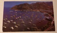 Postcard Catalina Island California Ocean View Ships Boats Avalon Bay Cabrillo