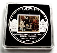 JAN STEEN A Mayor of Delft and his Daughter 1665 BU Art Medal 40mm 27g B11