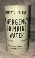 VINTAGE 1953 COLD WAR EMERGENCY GOVERMENT WAR DEFENSE FALLOUT DRINKING WATER