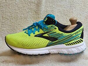 Brooks Adrenaline GTS 19 mens trainers Yellow-Neon/Black/Blue UK 7 EUR 41 US 8