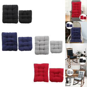 Rocking Chair Cushion Pads Back Seat with Ties Indoor/Outdoor Home Garden