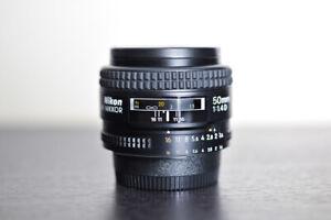 Nikon AF 50mm 1.4D Prime FX Lens - MINT!