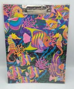 Vintage Lisa Frank Clipboard Under Water Ocean Sea Horses Fish