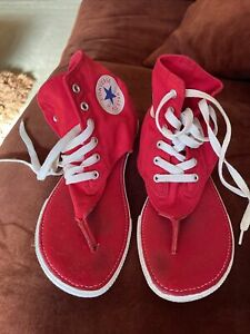 converse all Star CT Thong Sandals Canvas Hi Top Size 4
