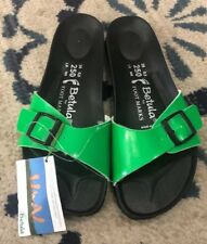 Betula For Foot Marks Neon Sandals New Luca Sz 8 Women's Green Slides Mules