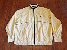 Men's Pierre Balmain Yellow Navy Blue Windbreaker Jacket as L