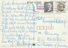 1984 South Korea card sent from Deogsu Palace to Baldham Germany