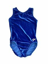 Euc Gk Gymnastics Leotard Am Al Sleeveless Leo Adult Large Royal Blue Velour