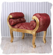 Sofa Bench Baroque Sofa Gold Red Chateau Chaise Longue Antique Pouf Stool