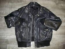 Vtg Schott Iconic A-2 Black Leather Mens Flight Military Jacket 184 SM Size 48