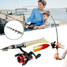Telescopic Fishing Rod Pole + Fishing Fishing Reel + Lures Baits Kit +  **1~