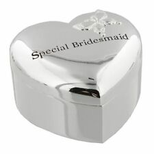 Amore Silverplated Heart Shape Trinket Box 'Special Bridesmaid' Bridesmaid Gift