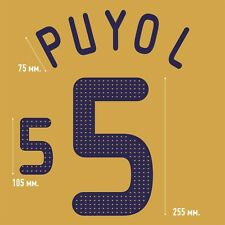 Puyol 5. Spain Away football shirt 2008 - 2010 FLEX NAMESET NAME SET PRINT