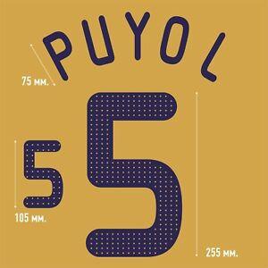 Puyol 5. Spain Away football shirt 2008 - 2010 FLEX NAMESET NAME SET PRINT