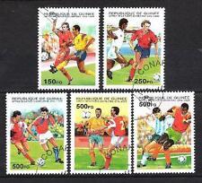 Football Guinée (73) série complète 5 timbres oblitérés