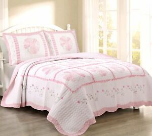 Daisy Field 100%Cotton Quilt Set, Bedspread, Coverlet