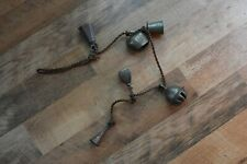 Vintage Bells of Sarna India Etched Brass 6 Bell String Lot Each one different