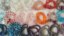 Joblot 50 pcs Glass Crystal Mixed Color Elasticated Bracelets - New Wholesale