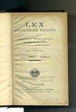 Giovanni Davicini # LEX LEGISLAZIONE ITALIANA-RACCOLTA CRONOLOGICA # UTET 1936