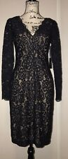 Vera Wang Black Lace Cocktail Dress NWT $248 Size 6