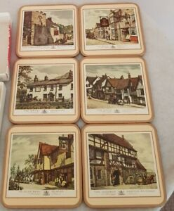 Six Traditional Coasters By Pimpernel (Old English)