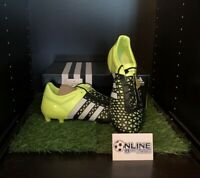 Adidas Ace 15.1 FG/AG Solar Yellow/White/Core Black UK 10, US 10.5, EU 44(2/3)