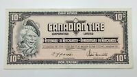 1974 Canadian Tire 10 Ten Cents CTC-S4-C-SN Circulated Money Banknote E150