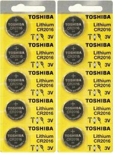 10 x New Original Toshiba CR2016 CR 2016 3V LITHIUM BATTERY BR2016 DL2016 WatchA
