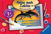 Ravensburger Malen nach Zahlen Malset Delfinromantik Delfine Meer Sonnenaufgang