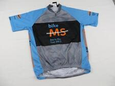 Pactimo Mens Bike MS Cycling Jersey Shirt Sz Small Black & Gray Bay to Bay 2013