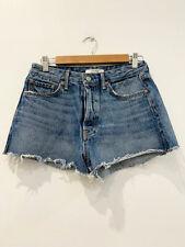 Designer BNWT GRLFRND Size 28 CINDY Style Blue Denim Women's Shorts