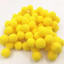 100PCS DIY Yellow Color Mini Soft Fluffy Pom Poms Pompoms Ball 15mm