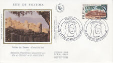 Enveloppe maximum 1er jour FDC Soie 1986 - Site Préhistorique de Filitosa Corse