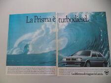 advertising Pubblicità 1985 LANCIA PRISMA TURBO DIESEL