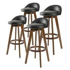 La Bella Bar Stool Dining Chair Leather - Black Brown