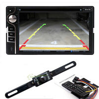 """Bluetooth Touch Screen 2 Din 6.2"""" HD Stereo Car CD DVD Player TV Radio W Camera"""