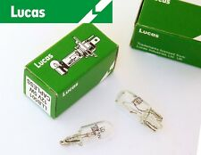 Lucas 12v 5w Paire de transparent auto classique Extrémité du câble