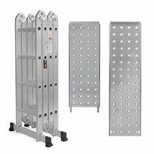 15.5FT Step Ladder Multi Purpose Aluminum Folding Tools 2 Free Plate EN131 New