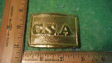 Civil War Confederate Belt Buckle CSA Brass Georgia Armory Replica Yellow Brass
